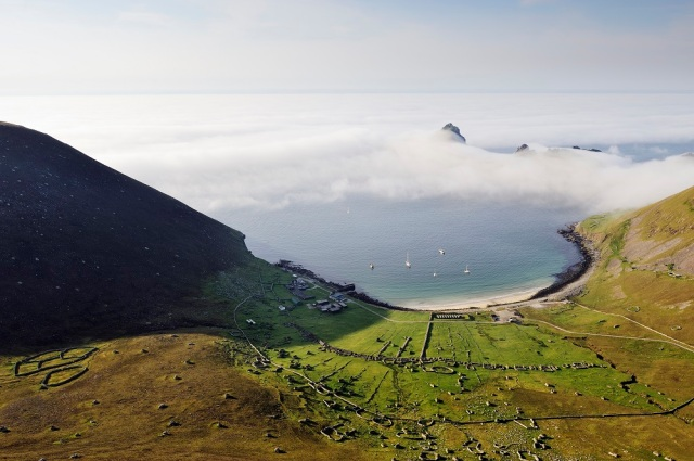 Village Bay, Hirta, St Kilda from the slopes of Conachair. Western Isles Area. ©Lorne Gill/SNH