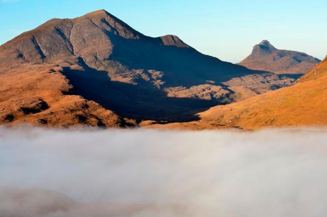 A temperature inversion at Knockan Crag NNR.©Lorne Gill/SNH