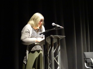 "Mary Harwood reading her poem ""A winter's day at Tentsmuir"""