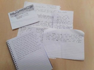 Poems produced by writing group during Tentsmuir trip