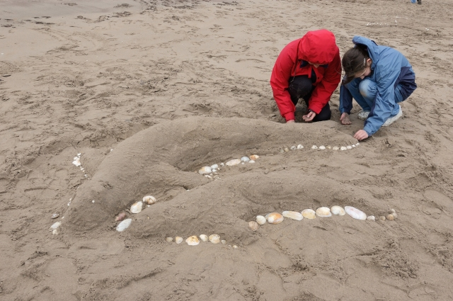 Creative art at the Tentsmuir NNR open day.©Lorne Gill/SNH