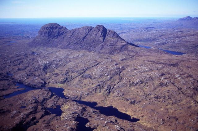 Aerial view of Suilven and Assynt ©P&A Macdonald SNH