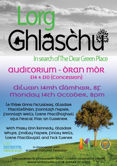 Lorg Ghlaschu - Gaelic blog post - Poster
