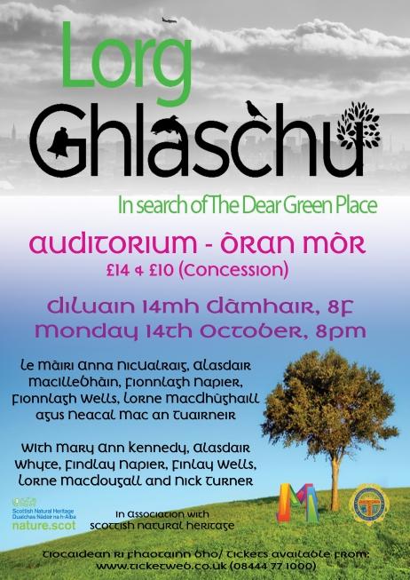Lorg Ghlaschu - Gaelic blog post - Poster