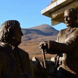 Peach and Horne sculpture at Knockan Crag NNR ©Lorne Gill/SNH