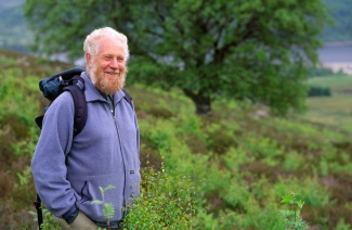 Dick Balharry in birch woodland regeneration at Creag Meagaidh National Nature Reserve, July 1997. ©Lorne Gill/SNH