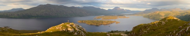 Panoram of the Loch Maree Islands NNR.©Lorne Gill/SNH